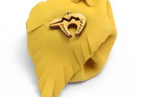Bear Tan Leather Medicine Bag by Handmade by Sylvia Jackson