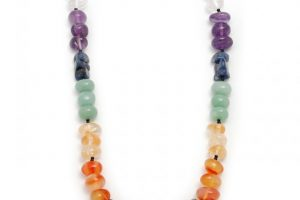 Chakra Crystal Elasticated Necklace 14-16 inches